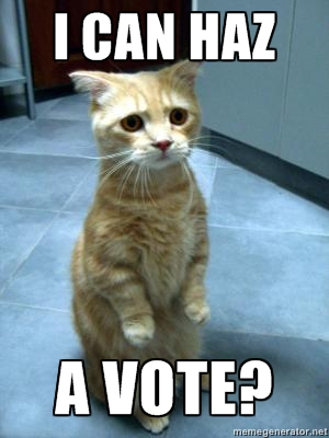 I can haz a vote?